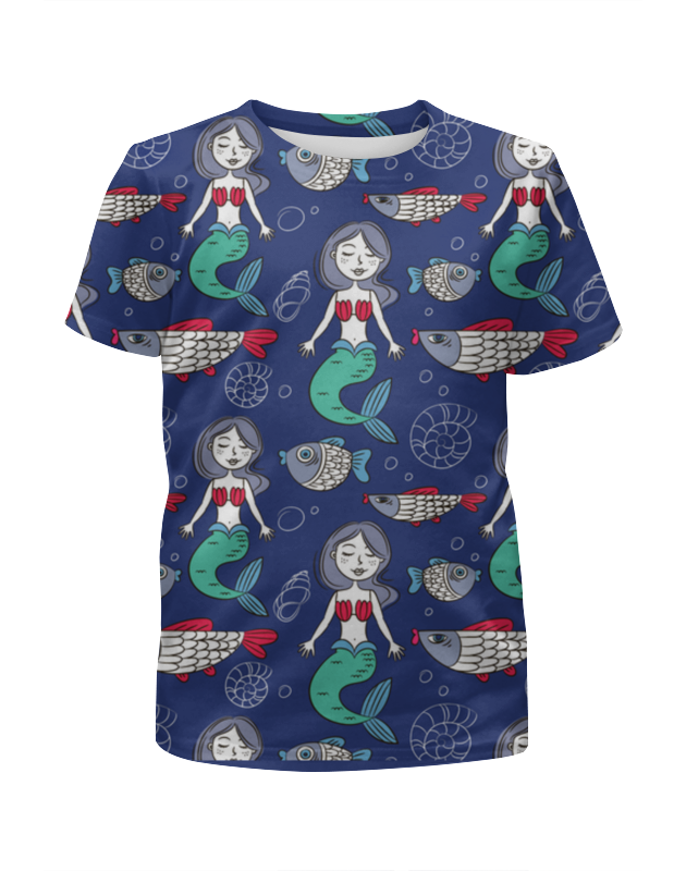 Футболка с полной запечаткой для девочек Printio Русалки футболка с полной запечаткой для девочек printio pluto