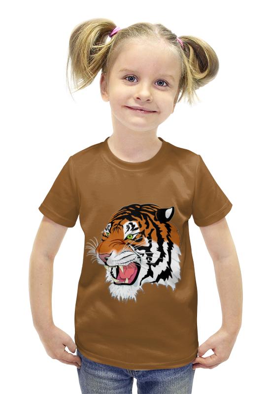 Футболка с полной запечаткой для девочек Printio Тигр. футболка с полной запечаткой для девочек printio spawn