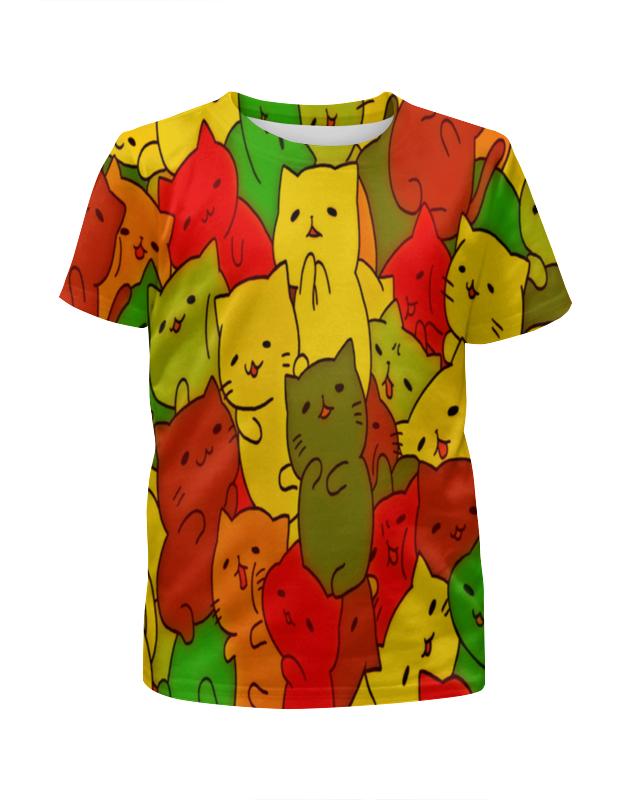 Футболка с полной запечаткой для девочек Printio Кошки футболка для беременных printio кошки не дети