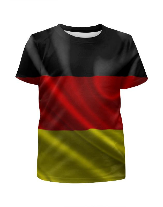 Футболка с полной запечаткой для девочек Printio Флаг германии футболка с полной запечаткой для девочек printio пртигр arsb