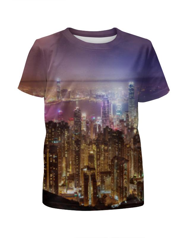 Футболка с полной запечаткой для девочек Printio Night city футболка с полной запечаткой для девочек printio пртигр arsb
