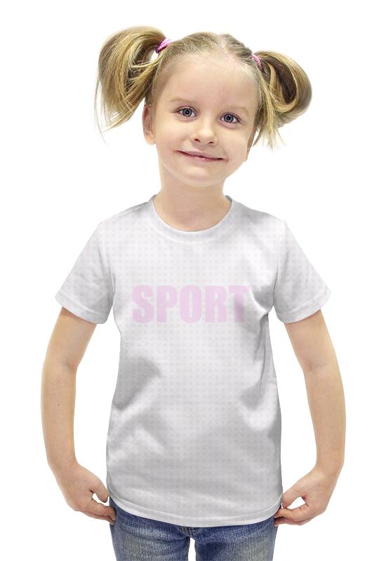 Футболка с полной запечаткой для девочек Printio Kidsport