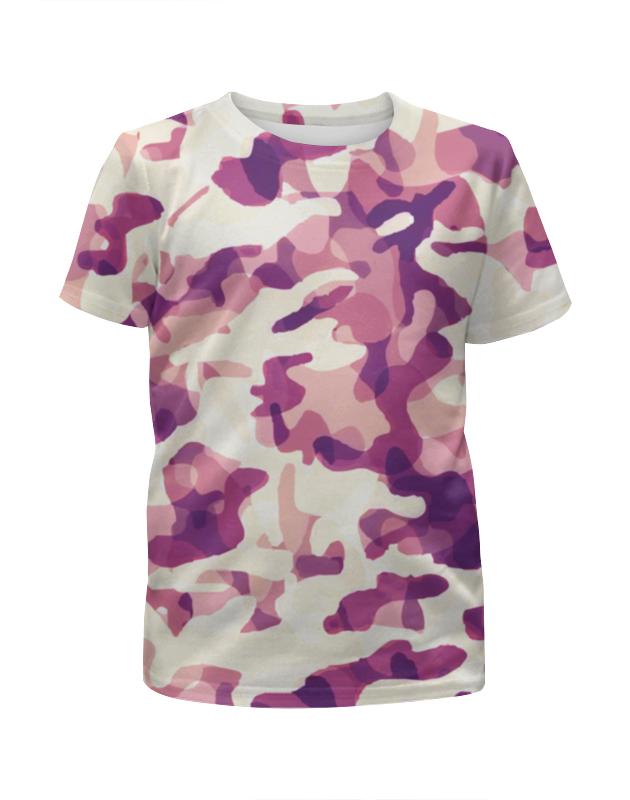Футболка с полной запечаткой для девочек Printio Современный  камуфляж футболка с полной запечаткой для девочек printio серо коричневый камуфляж