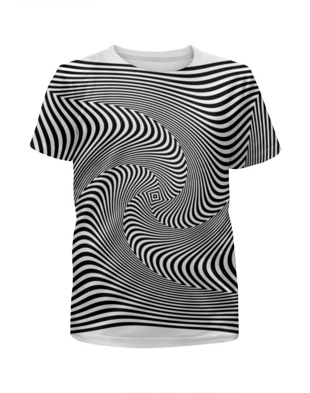 Футболка с полной запечаткой для девочек Printio Иллюзия футболка с полной запечаткой для