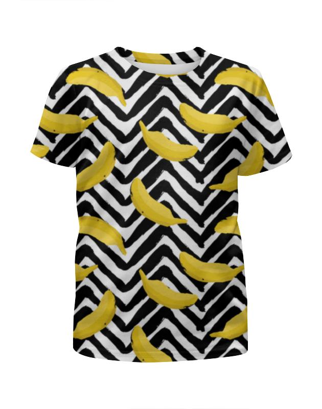 футболка с полной запечаткой для девочек printio бананы 3d Футболка с полной запечаткой для девочек Printio Патимейкер