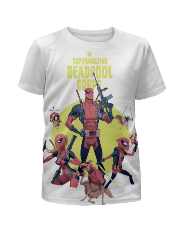 Футболка с полной запечаткой для девочек Printio Deadpool family чехол для iphone 7 глянцевый printio deadpool family
