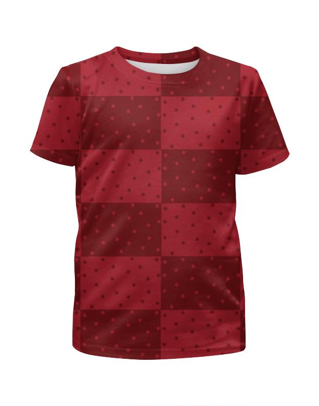 Printio Красный геометрический узор футболка с полной запечаткой для девочек printio геометрический узор