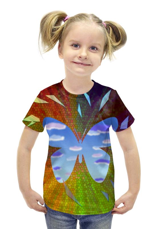 Футболка с полной запечаткой для девочек Printio Внутренний мир - ощущение свободы футболка с полной запечаткой для девочек printio война миров z