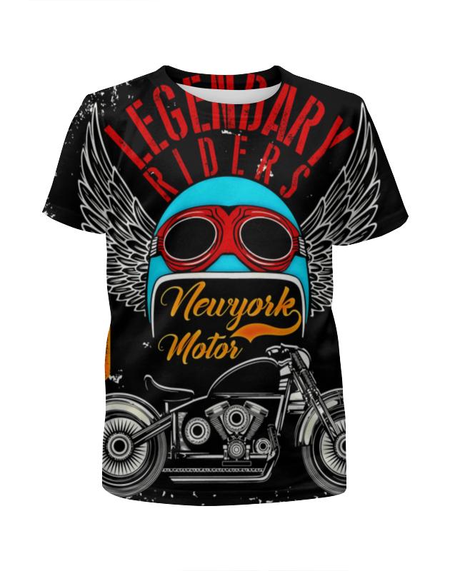 Футболка с полной запечаткой для девочек Printio Legendary riders футболка rude riders футболка