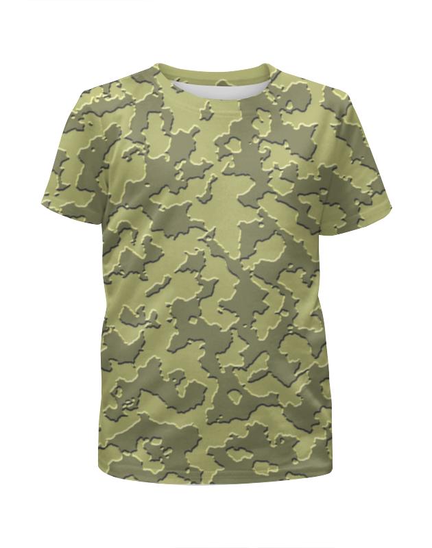 Футболка с полной запечаткой для девочек Printio Мультицвет камуфляж футболка с полной запечаткой для девочек printio пртигр arsb