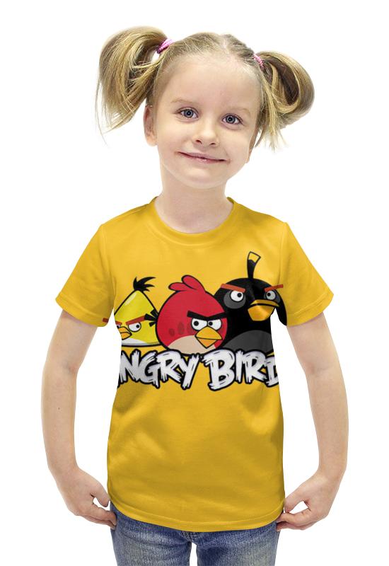 Футболка с полной запечаткой для девочек Printio Angry birds