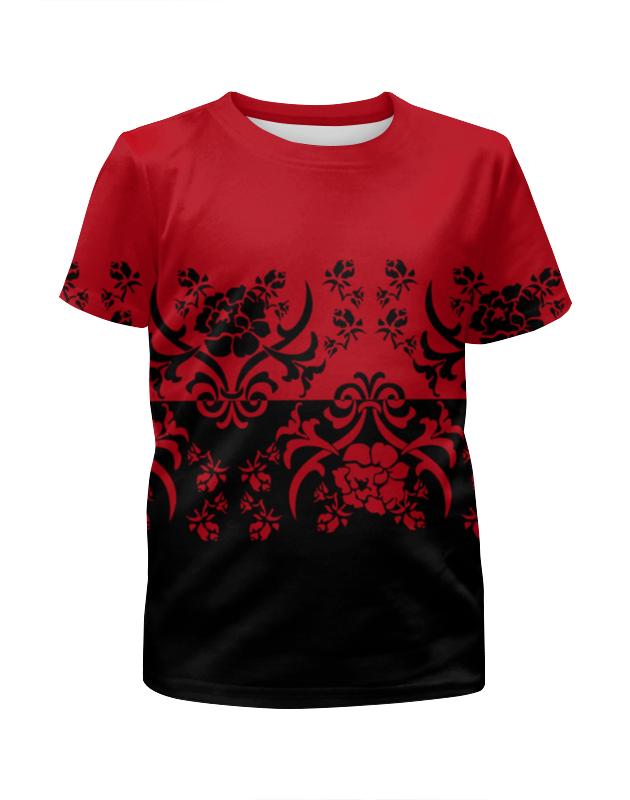 Футболка с полной запечаткой для девочек Printio Красно-черный футболка с полной запечаткой для девочек printio красно белый узор