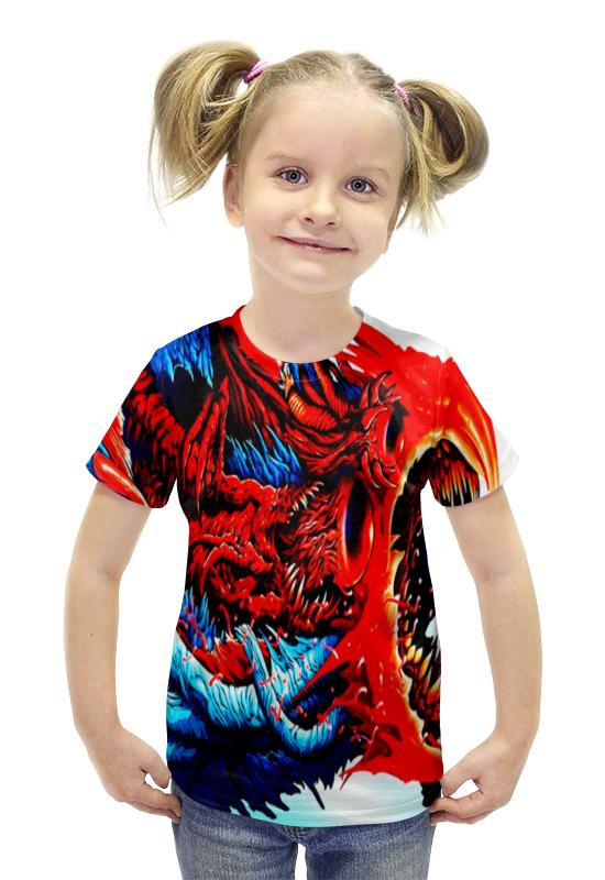 Футболка с полной запечаткой для девочек Printio Cs go :hyper beast red ключи для steam купить cs go за 150 рублей