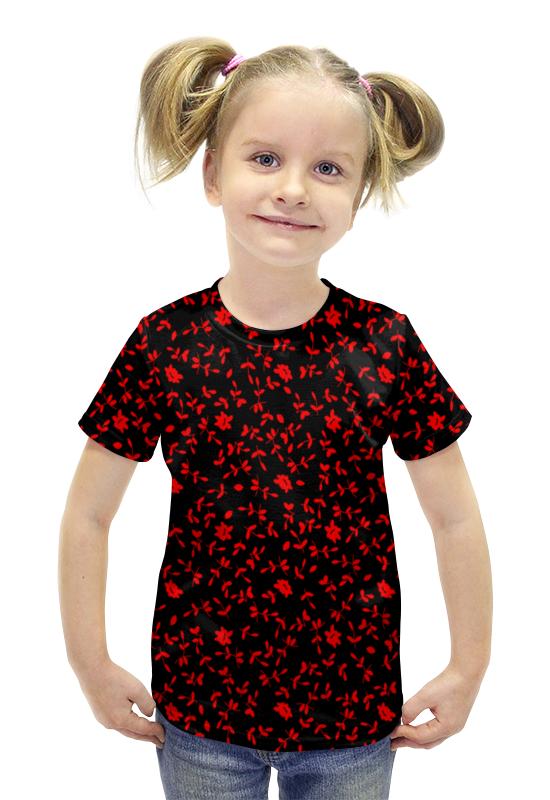 Футболка с полной запечаткой для девочек Printio Листочки футболка с полной запечаткой для девочек printio пртигр arsb