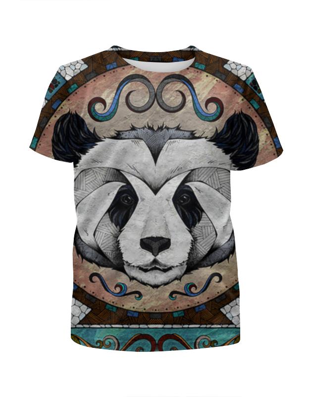 Футболка с полной запечаткой для девочек Printio Панда арт футболка с полной запечаткой для девочек printio панда с сердечком