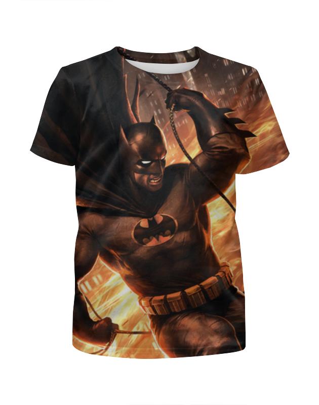 Футболка с полной запечаткой для девочек Printio Batman (бэтмен) чехол для iphone 5 глянцевый с полной запечаткой printio бэтмен batman
