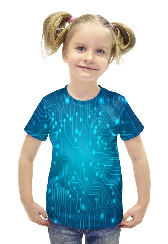 Футболка с полной запечаткой для девочек Printio Техно футболка с полной запечаткой для девочек printio spawn