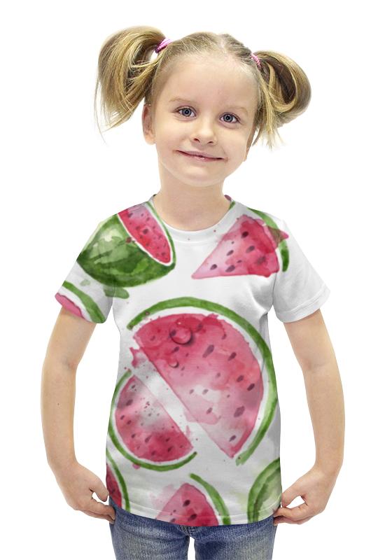 Футболка с полной запечаткой для девочек Printio Арбуз футболка с полной запечаткой для девочек printio spawn