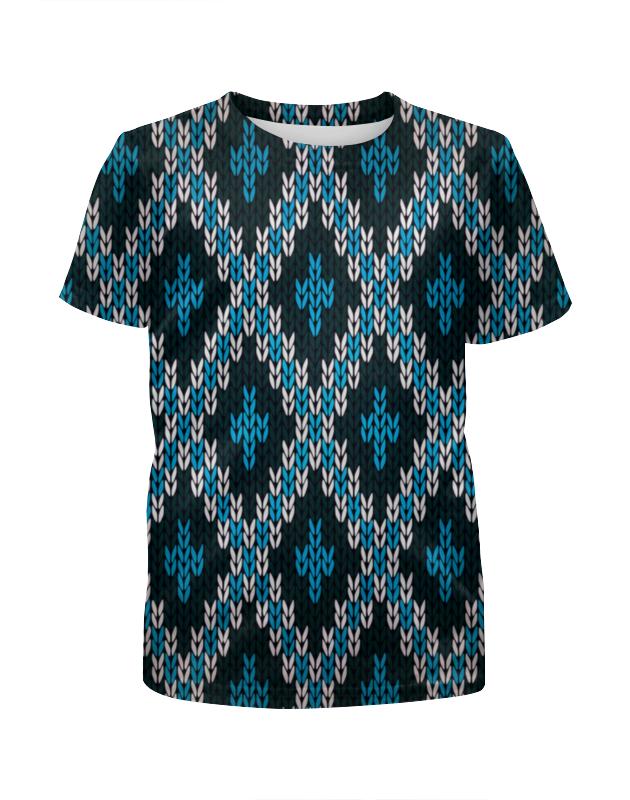 Футболка с полной запечаткой для девочек Printio Вязаный узор футболка с полной запечаткой мужская printio вязаный узор зима