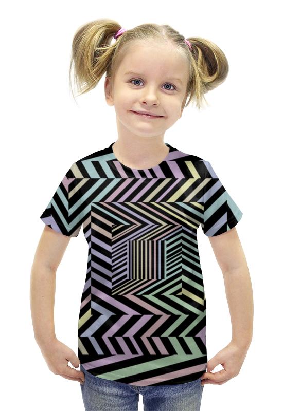 Футболка с полной запечаткой для девочек Printio Иллюзия футболка с полной запечаткой для девочек printio spawn
