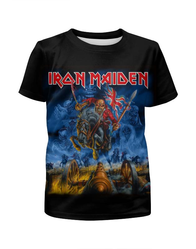 Футболка с полной запечаткой для девочек Printio Iron maiden band футболка для беременных printio iron maiden