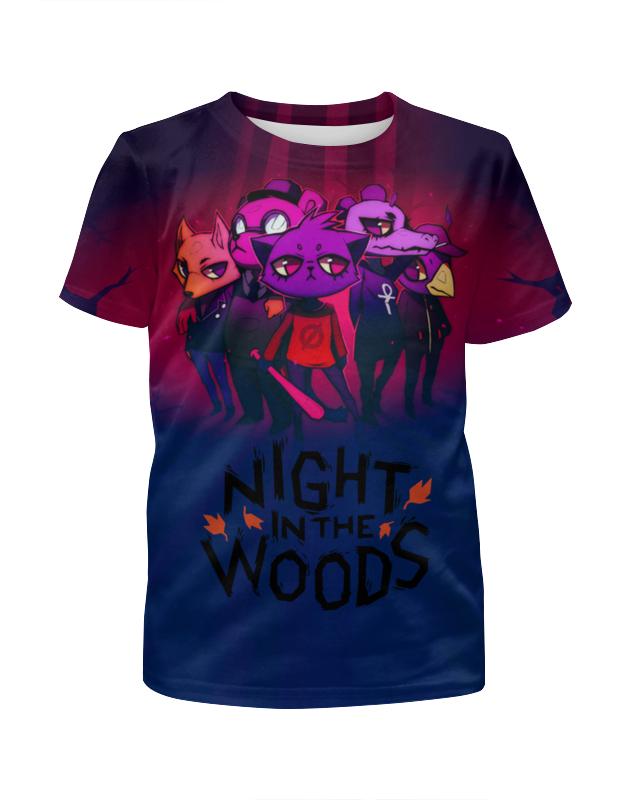Футболка с полной запечаткой для девочек Printio Night in the woods
