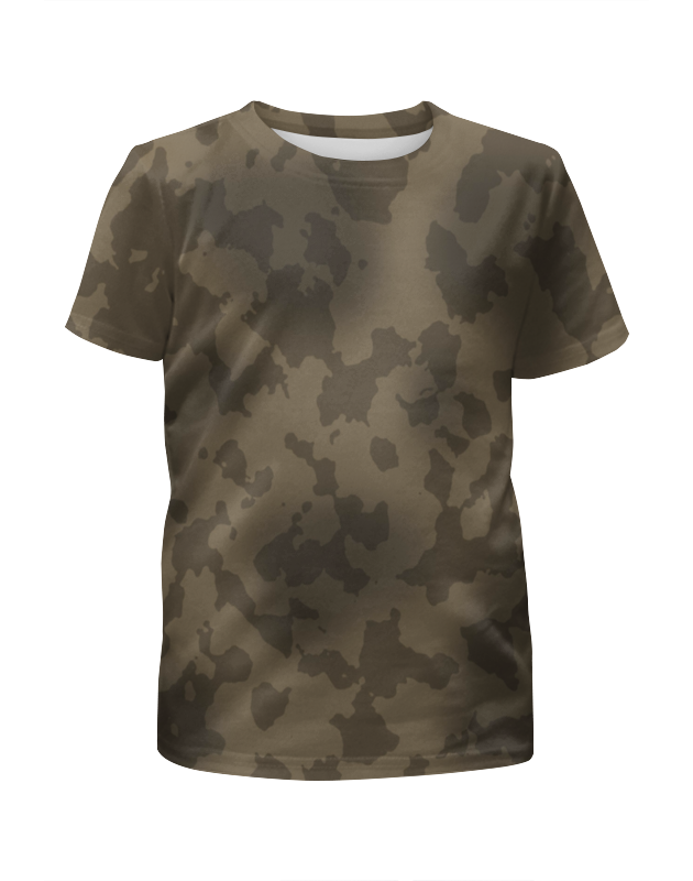 Футболка с полной запечаткой для девочек Printio Серый камуфляж футболка с полной запечаткой для девочек printio камуфляж