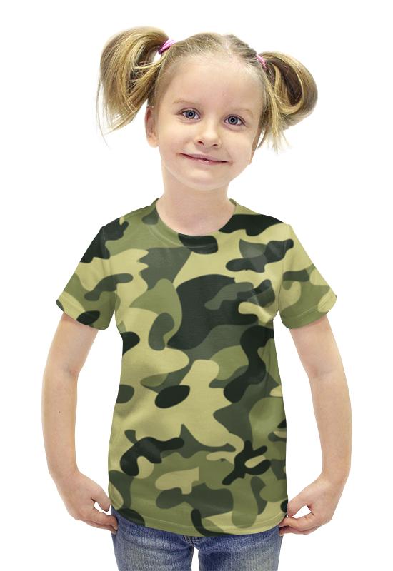 Футболка с полной запечаткой для девочек Printio Камуфляж футболка с полной запечаткой для девочек printio пртигр arsb