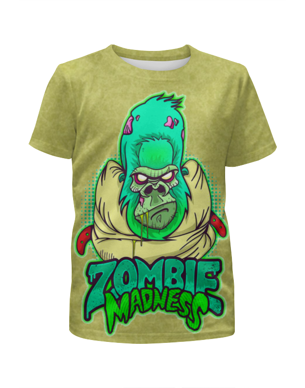 Футболка с полной запечаткой для девочек Printio Zombie madness