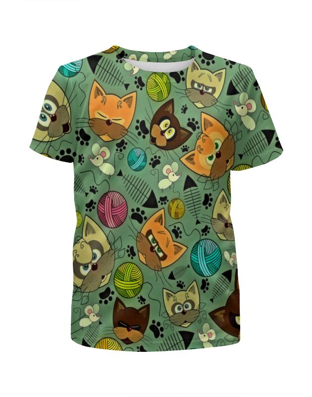 Футболка с полной запечаткой для девочек Printio Кот и мышь футболка с полной запечаткой для девочек printio пес и кот