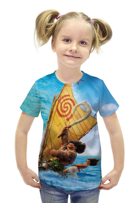 Футболка с полной запечаткой для девочек Printio Moana футболка с полной запечаткой для девочек printio пртигр arsb