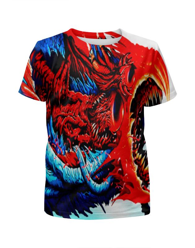 Футболка с полной запечаткой для девочек Printio Cs go :hyper beast red футболка с полной запечаткой женская printio cs go asiimov camouflage