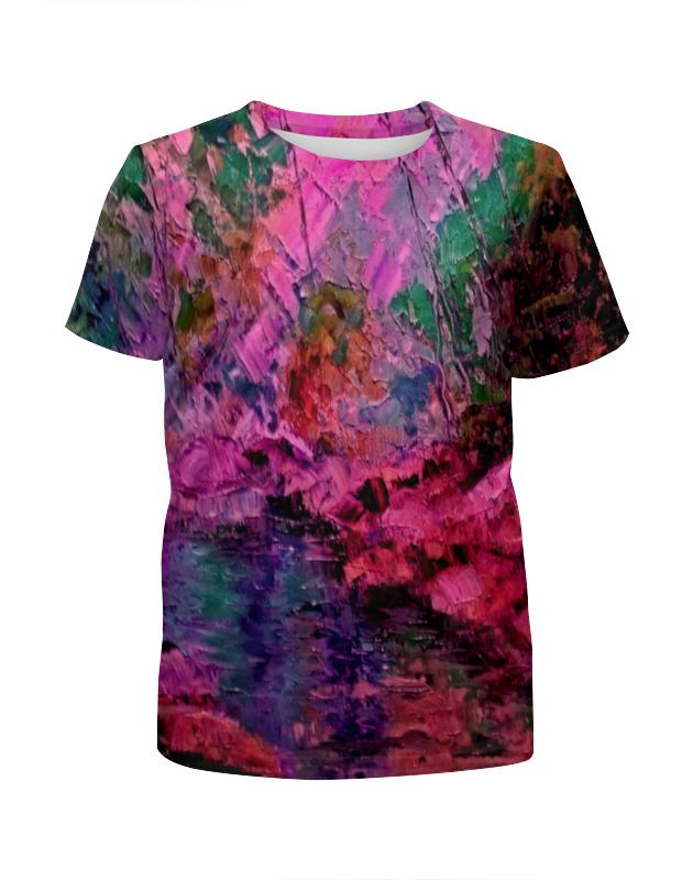 Футболка с полной запечаткой для девочек Printio Краски лета футболка с полной запечаткой женская printio цветение лета