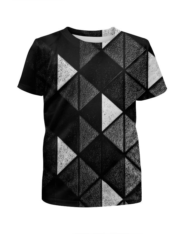 Футболка с полной запечаткой для девочек Printio Черно-белые фигуры футболка print bar белые мотыльки