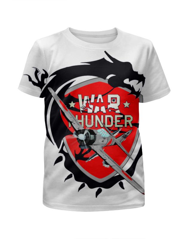 Футболка с полной запечаткой для девочек Printio War thunder футболка element tropical thunder ss black