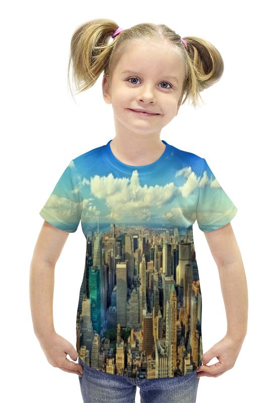 Футболка с полной запечаткой для девочек Printio Megapolis футболка с полной запечаткой для девочек printio spawn
