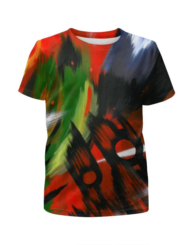 Футболка с полной запечаткой для девочек Printio Красная абстракция с ножницами футболка с полной запечаткой мужская printio красная абстракция с ножницами