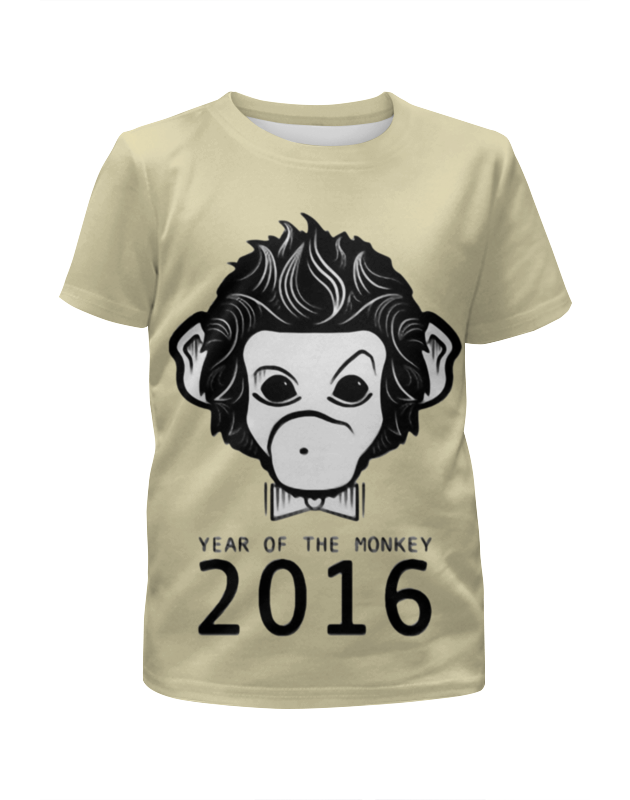 Футболка с полной запечаткой для девочек Printio Год обезьяны футболка с полной запечаткой для девочек printio slove arsb