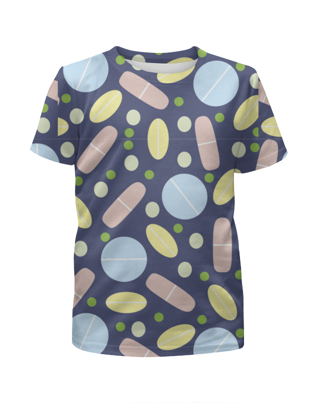 Футболка с полной запечаткой для девочек Printio Мир таблеток и пилюль цена