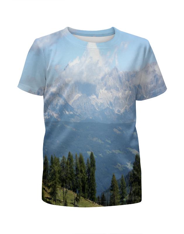 Футболка с полной запечаткой для девочек Printio Горный пейзаж футболка с полной запечаткой мужская printio горный пейзаж