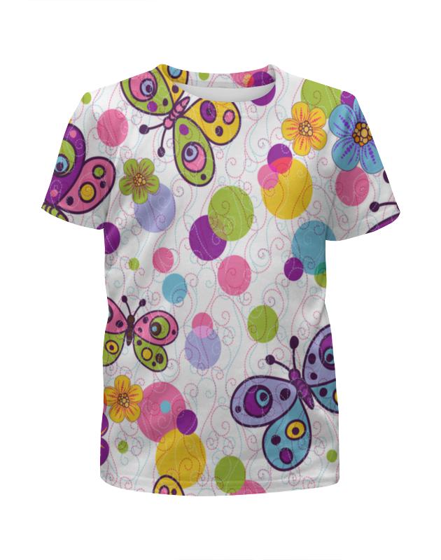 Футболка с полной запечаткой для девочек Printio Бабочки футболка с полной запечаткой для девочек printio дефстроук ликвидатор