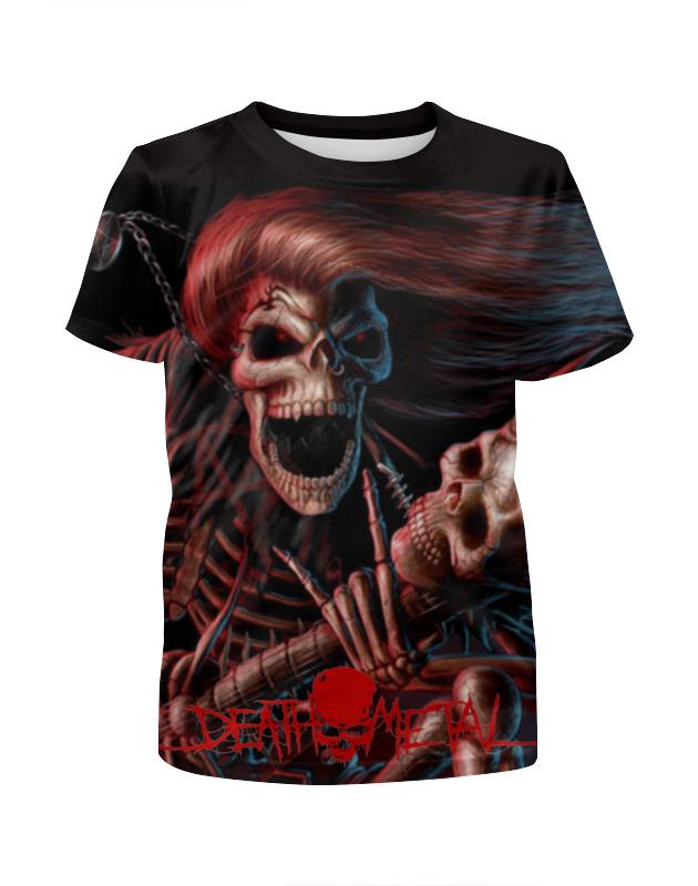 Футболка с полной запечаткой для девочек Printio Death metal (смерть) цена и фото