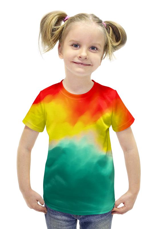 Футболка с полной запечаткой для девочек Printio Watercolor футболка с полной запечаткой для девочек printio пртигр arsb