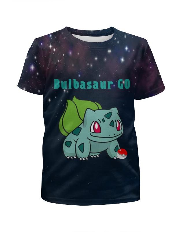 Футболка с полной запечаткой для девочек Printio Pokemon bulbasaur lno 117pcs bulbasaur pokemon building block