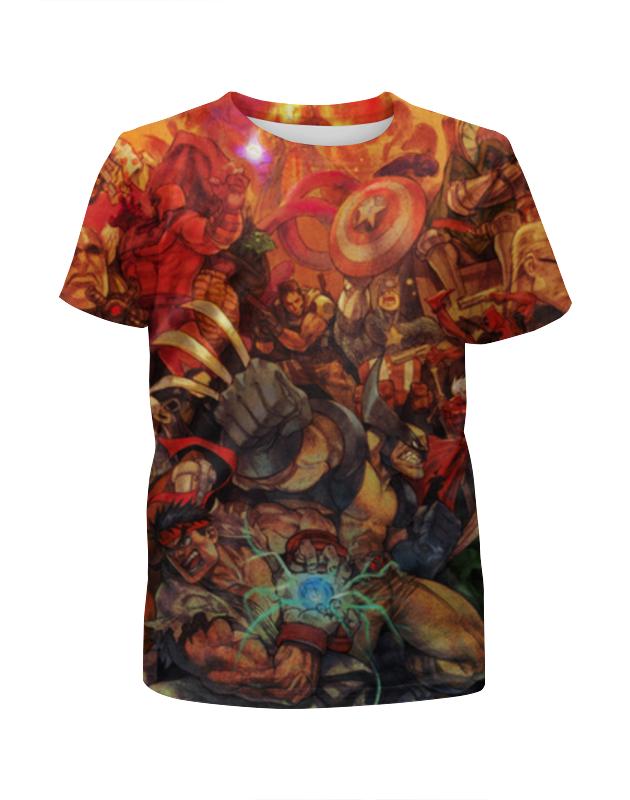 Футболка с полной запечаткой для девочек Printio Marvel art футболка с полной запечаткой для