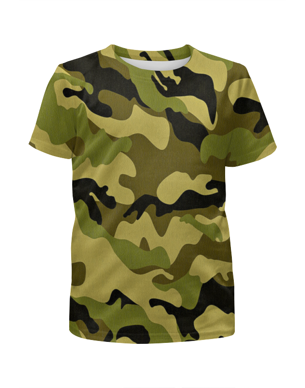 Футболка с полной запечаткой для девочек Printio Мультицвет камуфляж футболка с полной запечаткой для девочек printio камуфляж