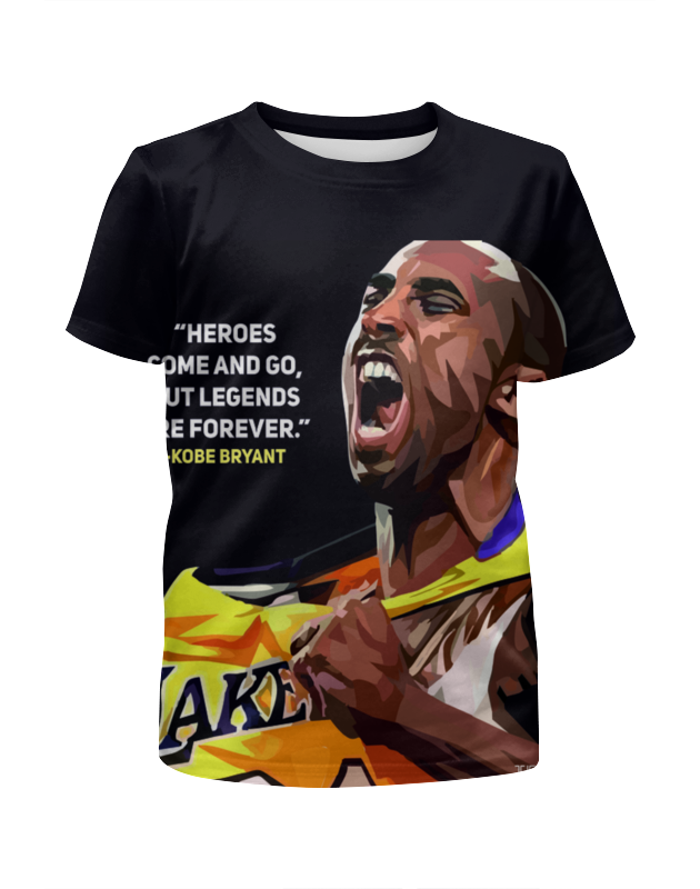 Футболка с полной запечаткой для девочек Printio Коби брайант футболка с полной запечаткой для девочек printio пртигр arsb