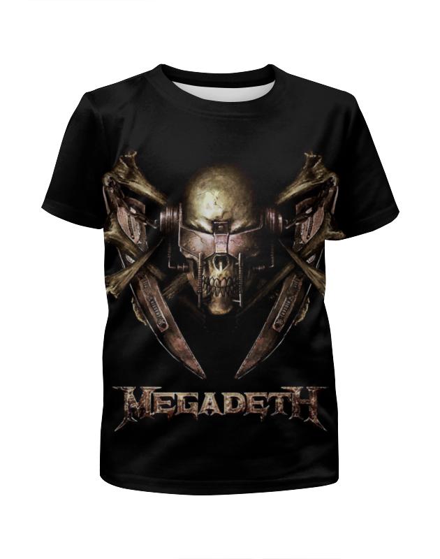 Футболка с полной запечаткой для девочек Printio Megadeth band футболка с полной запечаткой для девочек printio пртигр arsb