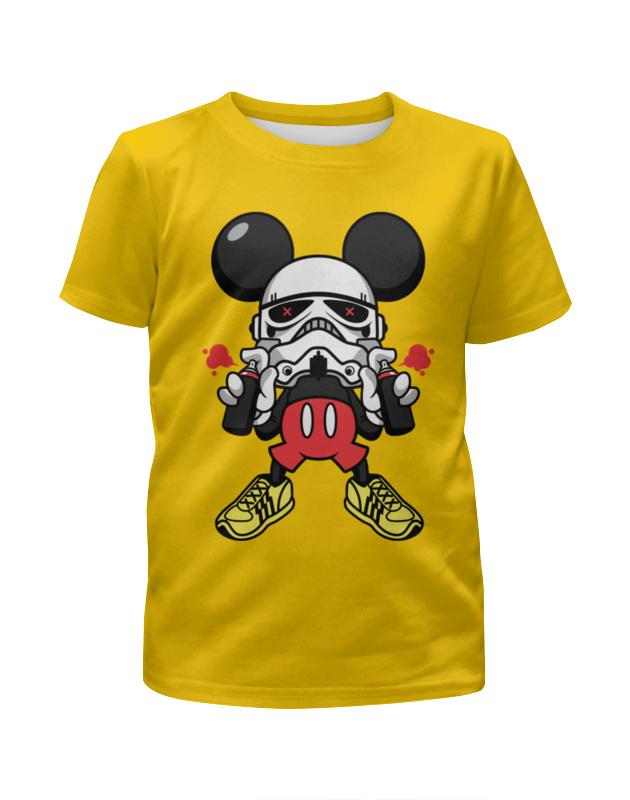 Футболка с полной запечаткой для девочек Printio Микки маус-штурмовик футболка с полной запечаткой женская printio штурмовик tr 8r