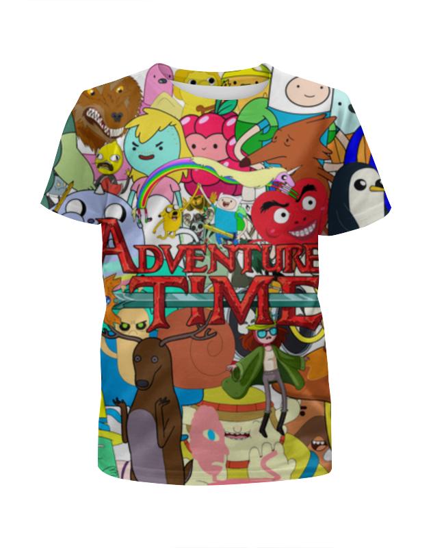 Футболка с полной запечаткой для девочек Printio Adventure time цены онлайн